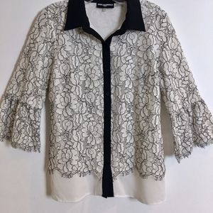 Karl Lagerfeld button down blouse S women's black